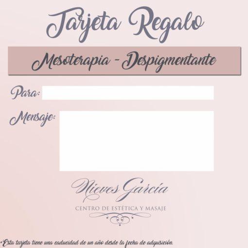 Tarjeta Regalo Mesoterapia- Despigmentante Nieves García Centro de Estética y Masajes
